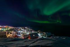 Greenlanic北极光 库存图片