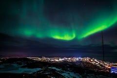 Greenlanic Noordelijke lichten stock fotografie