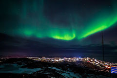 Greenlanic Northern lights Stock Photography