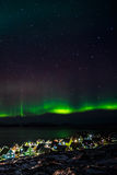 Greenlanic Northern lights Stock Photos
