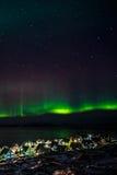 Greenlanic Północni światła Fotografia Royalty Free