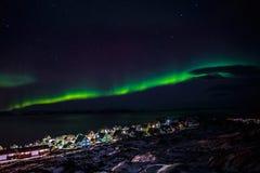 Greenlanic Północni światła Zdjęcie Stock