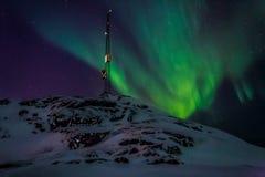 Greenlanic Północni światła, niedaleki Nuuk miasto Obrazy Stock