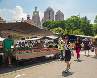 Greenmarket Farmers Market Union Square NYC Royalty Free Stock Photography