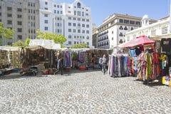 Greenmarket kwadrata curios Afrykańscy kramy obraz royalty free