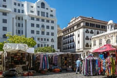 Greenmarketvierkant in Cape Town Royalty-vrije Stock Foto