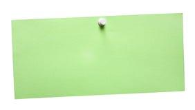 GreenNote simples com trajeto Fotos de Stock Royalty Free