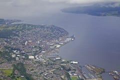 Greenock Skottland på Clyde River Royaltyfri Bild