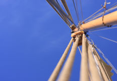 Greenpeace. Mast of a sailing boat (the Greenpeace ship Beluga II Stock Images