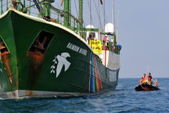 Greenpeace activists Stock Images
