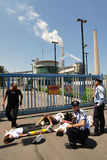 Greenpeace Blocks entry to Power Station in South Israel Stock Images