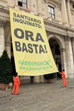 Greenpeace italiano Fotografia Stock