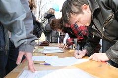 Greenpeace in Moskau Lizenzfreie Stockbilder