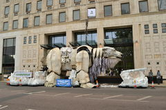 Greenpeace protest Shell oil company London Stock Image