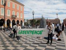 Greenpeace protesta, Nizza Fotografie Stock Libere da Diritti