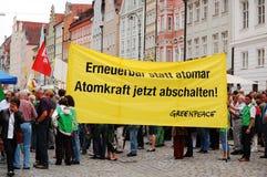 greenpeace protesterar Fotografering för Bildbyråer