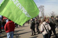 Greenpeace protestieren Lizenzfreie Stockfotografie