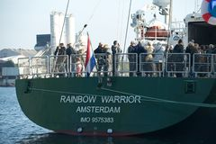 Greenpeace's Rainbow Warrior III, London, UK Royalty Free Stock Photos
