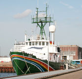 Greenpeace ship Sirius. In the harbour of Amsterdam Royalty Free Stock Photos