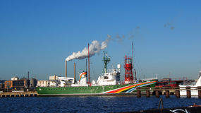 Greenpeace ship sirius in Amsterdam Royalty Free Stock Photos