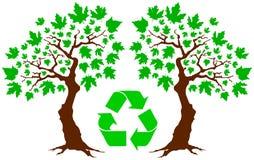 Greenpeace y árbol stock de ilustración