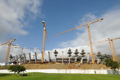 Greenpoint 2010 Soccer Stadium. Construction underway for 2010 World Cup Soccer stadium at Cape Town Royalty Free Stock Photo