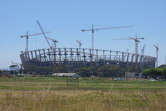 Greenpoint Stadion im Bau Stockbild
