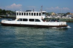 Greenport, NY: Ferry Boat Docking Stock Photo