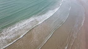 Greens beach from above, located near Launceston, Tasmania. Beautiful view from above of Greens beach near the Launceston in Tasmania stock footage