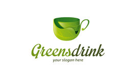 Greens Drink Logo Royalty Free Stock Images