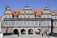 Greens gate von Gdansk in Poland Royalty Free Stock Photography