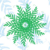 Greens openworks star. Branches and leaves, greens openworks star stock illustration