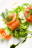 Greens and salmon Stock Image