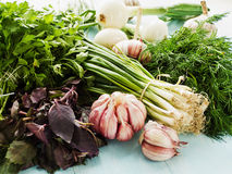 Greens and veggies Royalty Free Stock Image