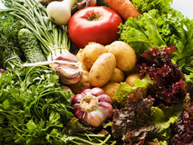 Greens and veggies Stock Photos