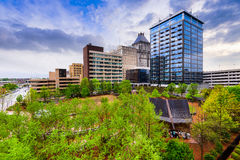 Greensboro North Carolina. Greensboro, North Carolina, USA downtown skyline royalty free stock images
