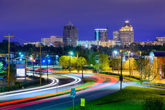 Greensboro North Carolina. Greensboro, North Carolina, USA downtown skyline Royalty Free Stock Photo