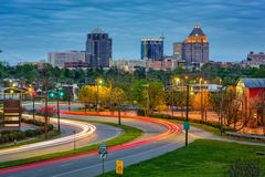 Greensboro North Carolina. Greensboro, North Carolina, USA downtown skyline stock photos