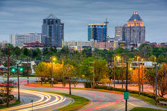 Greensboro-Skyline Stockfotos