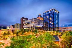 Greensboro Skyline. Greensboro, North Carolina, USA downtown city skyline Royalty Free Stock Photography