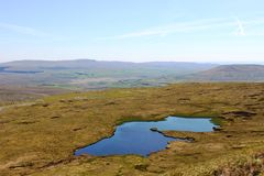 Greensett Moss, Whernside with Pen-y-Ghent at rear royalty free stock photos