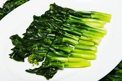 GreenSize vegetables with oyster sauce Stock Image