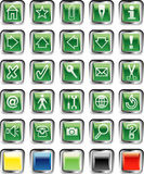 Greensquarebuttons Stock Image