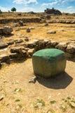 Greenstone cube. In Hattusa, ancient Hittite capital, gift from pharaoh Ramesse II, Turkey stock photos