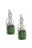 Greenstone earrings Royalty Free Stock Photography