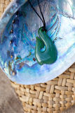 Greenstone - Jade Hook Pendant Royalty Free Stock Images