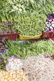 Greenstuff. Stalls selling all kinds of vegetables.This photo was taken in chengdu city,sichuan province,china Stock Image