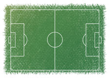 Greensward white line football soccer scale. Stock Photography