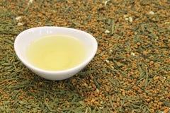 Greentea с коричневым рисом Стоковые Изображения RF
