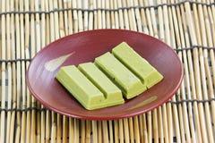 GreenTea chocolate wafer Stock Photo